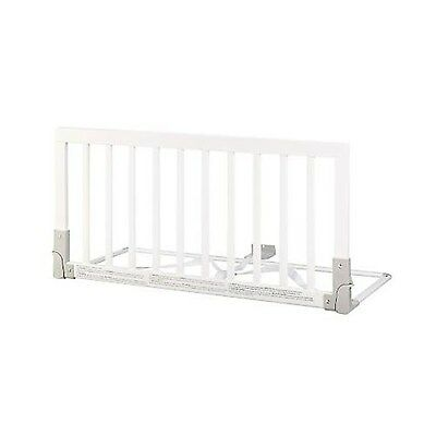 BabyDan Wooden Bed Guard (White), White