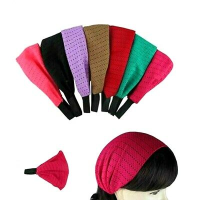 6pcs Fashion Bandana W/Elastic Back Head Band Head Wrap Turban Workout Yoga Lot
