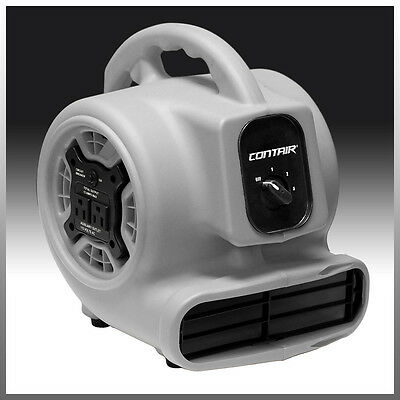 Contair® FLOW Air Mover Carpet Dryer Blower Floor Fan High CFM GFCI Plug Gray