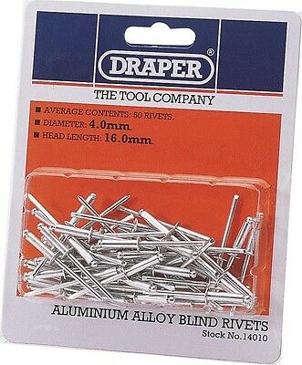 Draper 14010 50 x 4mm x 15.8mm Blind Rivets
