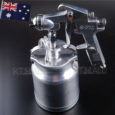 "1 L Pot 1/4"" SUCTION FEED HEAVY DUTY PAINT SPRAY GUN AIR HOSE COMPRESSOR FITTING"