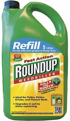 Roundup Weedkiller Fast Action Path Patio Weed Root Killer 5L Refill