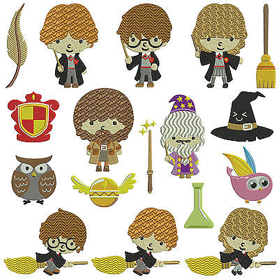 * HARRY POTTER * Machine Embroidery Patterns * 17 designs