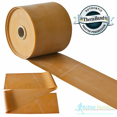Theraband Resistance Bands Exercise Gym Physio Thera Band Strips Catapult Gold
