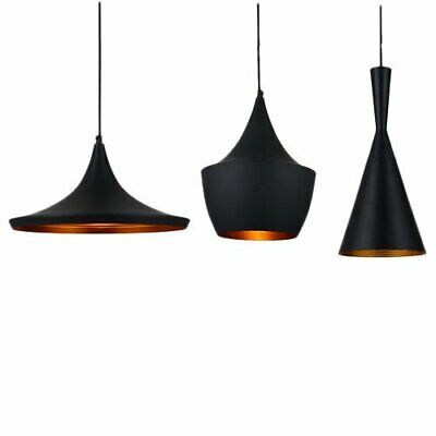 Mini Style Retro Vintage Tom Dixon Design Pendant Light in Black 3 Shade+Blub