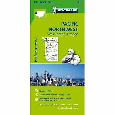 Pacific Northwest Zoom Map 171 Michelin Editions des Voyages Shee. 9782067190764