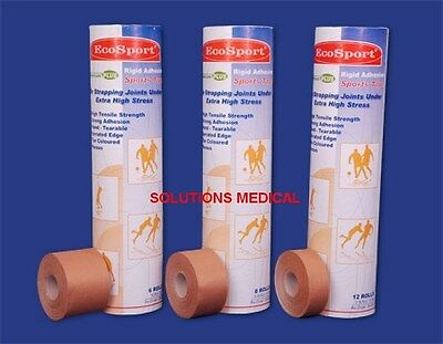 Rigid Adhesive Sports Tape 2.5Cm X 13.7M (X6)