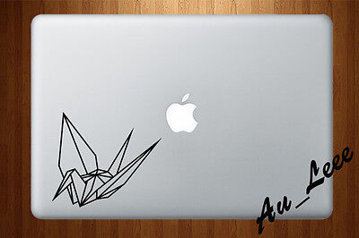 Macbook Air Pro Vinyl Skin Sticker Decal Japanese Paper Crane Origami Craft M714