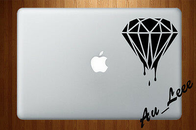 MACBOOK AIR PRO Vinyl Skin Sticker Decal Apple Logo Melting Paint