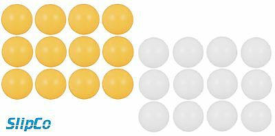 Table Tennis Balls Ping Pong Plain Logo Free 40mm White Orange Plastic UK SELLER