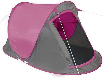 Yellowstone Fast Pitch 2 Man Person Tent Blue Pink Green QuickPitch Easy Light