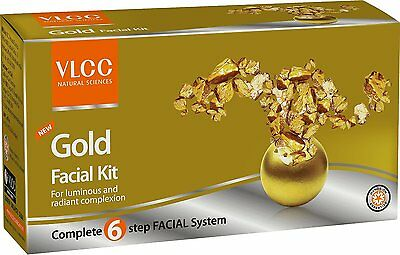Vlcc Herbals Gold Single Facial Kit For Luminous And Radiant Complexion Set Of 6