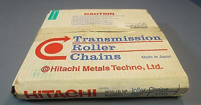10' Section of Hitachi Roller Chain Riveted Nickel Plated #60-1R NP NIB