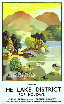 PAINTING LAKE DISTRICT SPARROW ULLSWATER LANDSCAPE ENGLAND FRAMED PRINT B12X7400