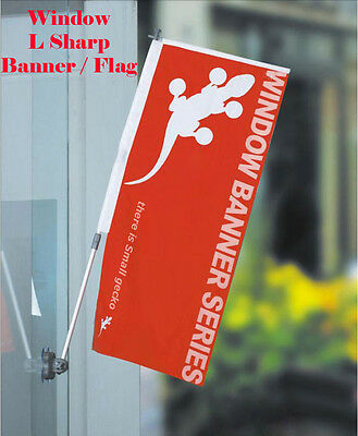 Window / Glass Banner Flag  Pole Suction Cup System Promotion Advertisement