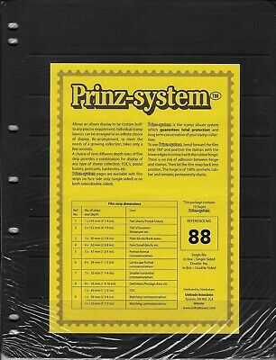"""Prinz (Hagner-style) Double-side B88 Stock Sheets -8 pocket (8½""""x11"""") -Pkg of 10"""