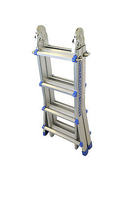 Multipurpose Ladder 403cm Holds 150kg - 24 Working Positions 19 Heights YB-708X