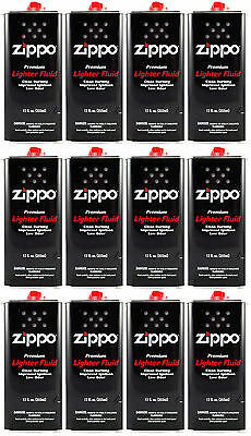 Zippo Premium Lighter Fluid 12 OZ. (355ml) For All Zippo Lighters (Pack Of 12)