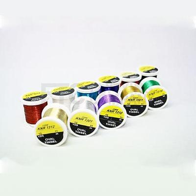 Hends Oval Tinsel for Fly Tying | Multiple Colours Available