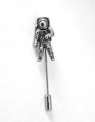 Astronaut Lapel Stick Pin in Fine English Pewter, cravat pin, tie, space (wa)
