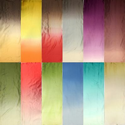 """100% Pure Silk Charmeuse Fabric 45"""" Dressmaking Sewing 11Color Ombre By The Yard"""