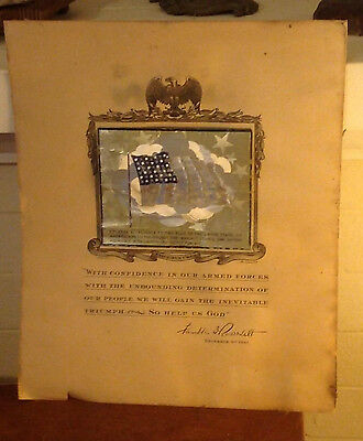 "Patriotic Chronicling of FDR's Declaraiobn of War on Japan 12"" x 10"""