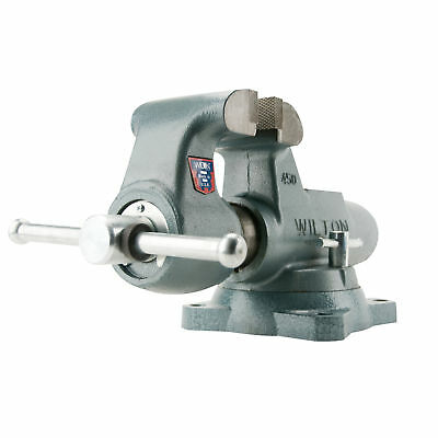 """Wilton 500S 5"""" Jaw Round Machinists Bench Vise 8"""" Opening 4.25"""" Depth - 10026"""