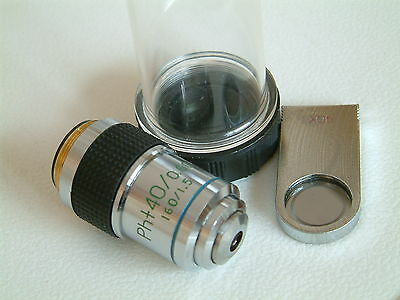 Unused Cased DIN Microscope objective LWD PLAN PH+40/0.60 160/1.5