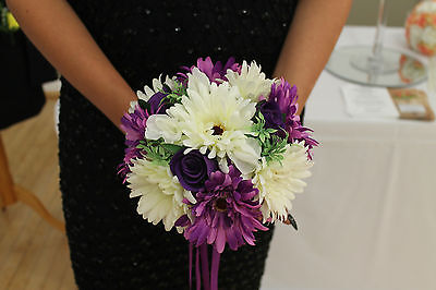 Bridesmaids Bouquet Cadbury's Purple Ivory Dark Lilac