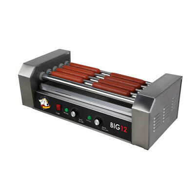 Roller Dog Commercial 12 Hot Dog 5 Roller Grill Cooker Machine - RDB12SS