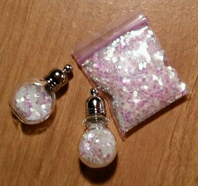 2) Fairy Dust 1inch Bags of Glitter Fill Mini Bottles (Not included)DIY Jewelry