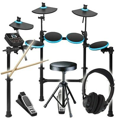 Alesis DM Lite Kit Folding Electronic Drum Kit, Sticks, Stool, Headphones DMLite