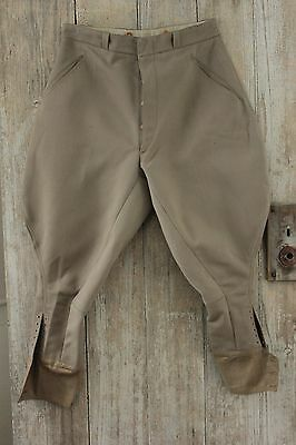 Vintage French pants Riding breeches Equestrian gray work wear chore old trouser