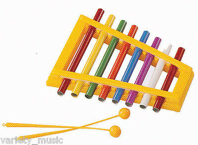 MITELLO - Pipe xylophone. 8 note. Tuned coloured pipes in a plastic frame.