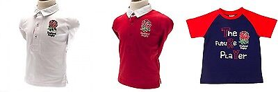 England Rugby Baby Rugby Top or T-Shirt 100% Official RFU Item 100% Cotton