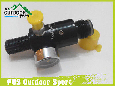 Paintball 4500psi HPA High Compressed Air Tank Regulator Valve Output 1800psi