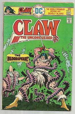 Claw the Unconquered #3 (Sep-Oct 1975, DC) Vintage Bronze!