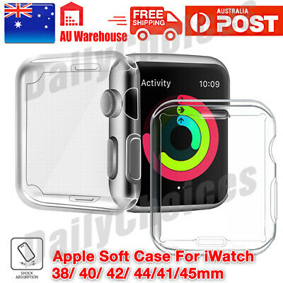 Full Cover TPU Case iWatch Screen Protector For Apple Watch Series 5 4 3/ 2 / 1