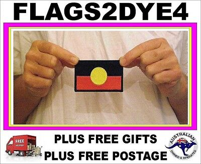 Aboriginal flag Indigenous flag NAIDOC embroidered clothes patch + FREE Gifts