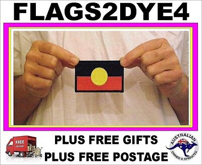 Aboriginal flag patch Indigenous flag embroidered for clothes & Hat + FREE Gifts