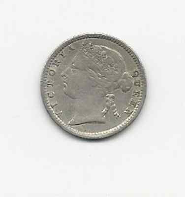 Mauritius Twenty Cents 1899 Silver Coin  Extreme Fine Cond Free World Shipping