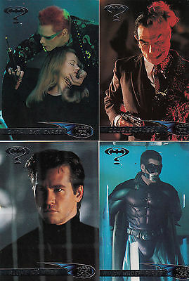 Batman Forever:1995-Movie- Fleer Ultra-Lot 4.4 Cards