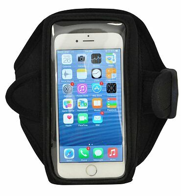 For Samsung Galaxy Note Edge 4 3 2 Gym Sport Arm Band Running Armband Black NEW