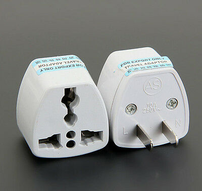 UK/EU/AU Universal to US AC Power Plug Adapter Travel 2 pin Converter NEW