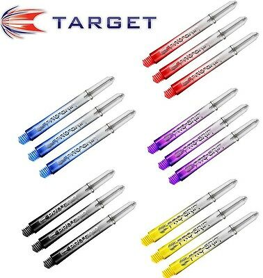 Target Pro GRIP Vision Dart Shafts Stems x 3 ALL COLOURS AND SIZES (X3005-10)
