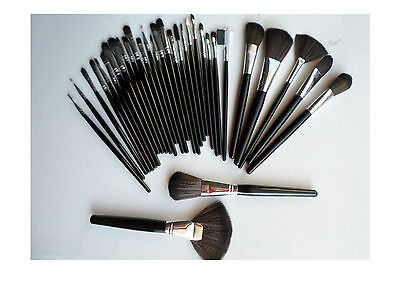 SET 32 PENNELLI KIT TRUCCO COSMETICA MAKE UP PER TRUCCO BRUSH con CUSTODIA NUOVO
