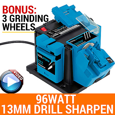 3XWHEELS MULTI ELECTRIC TOOL SHARPENER 96W HSS Drill Bit13MM SCISSOR KNIFE BLADE