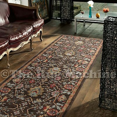 DEVINE BROW BLUE VINTAGE CHOBI STYLE TRADITIONAL HALL RUNNER 80x300cm **NEW**