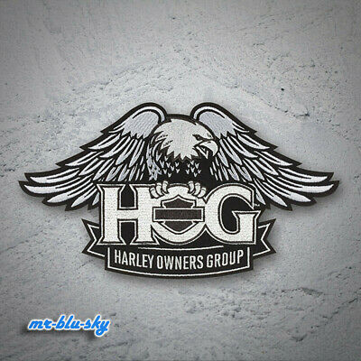 Large Silver Eagle Patch ~ Harley Davidson Owners Group HOG H.O.G.