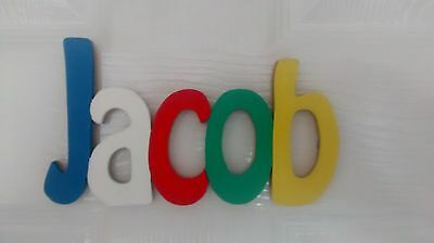 MODERN STYLE personalised wooden name plaques/ door sign/large wooden letters
